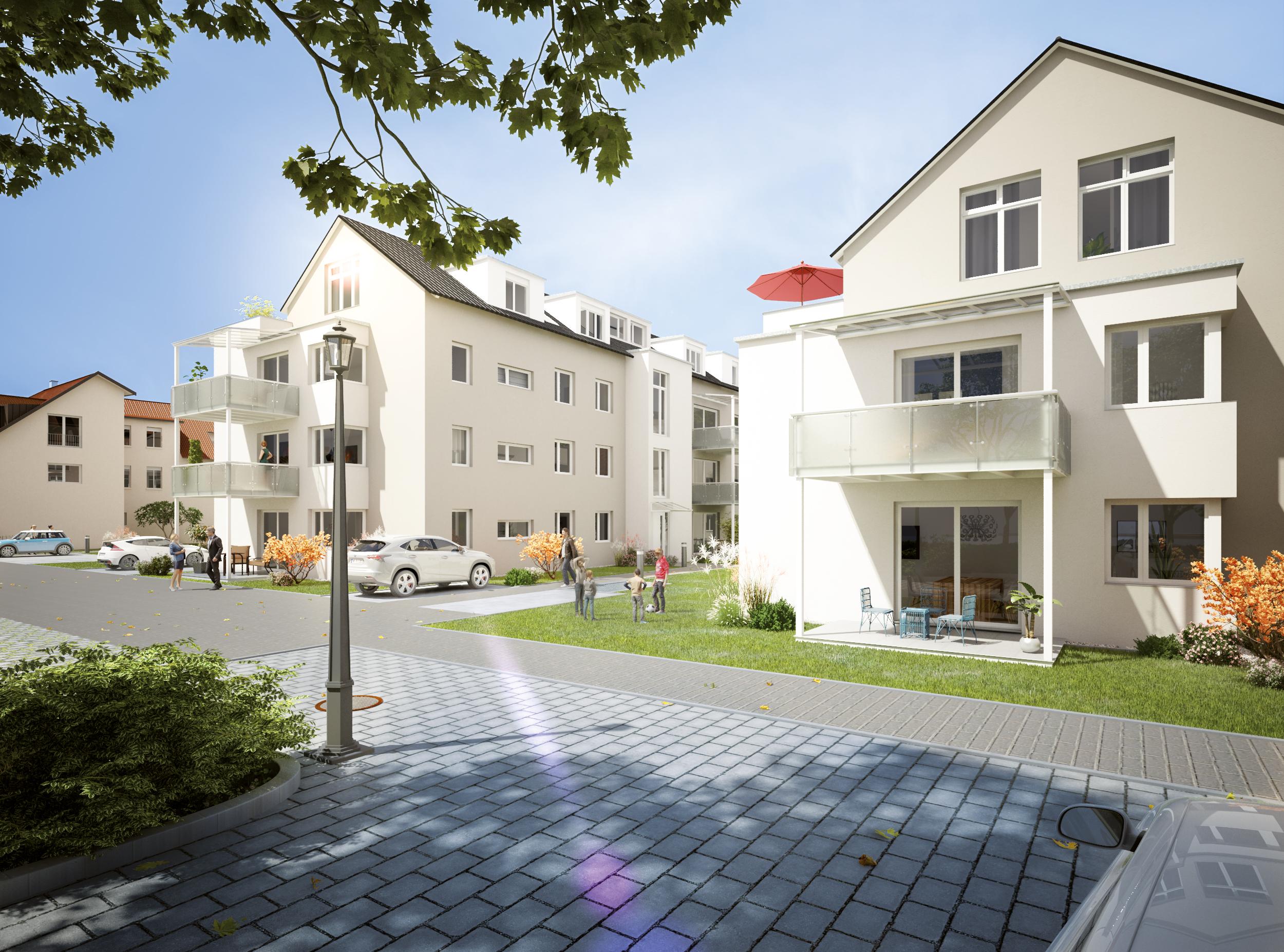 Westermann Bau - Wohnpark im Ochsen, Aussenansicht